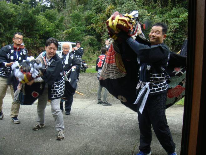 秋津野の祭りの始まりです。