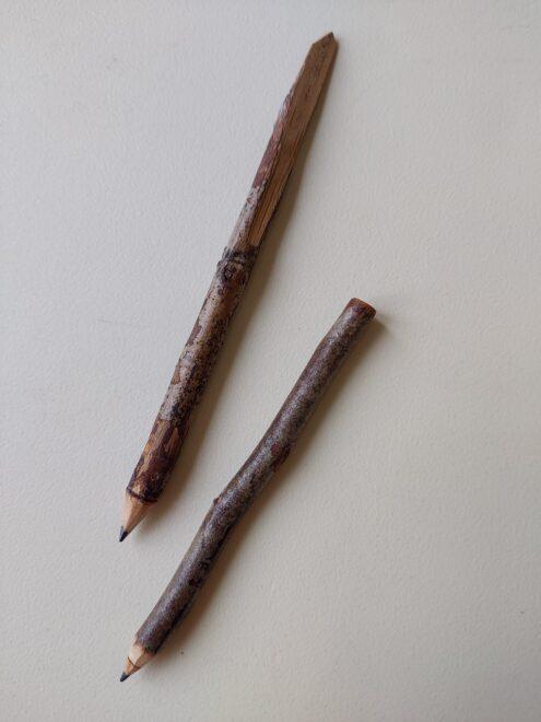 最近、鉛筆が お気に入りなんです